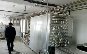新东机械牛奶速冷系统安装调试现场