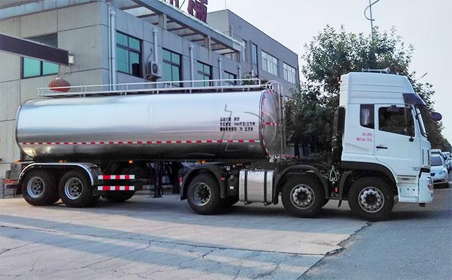 东风25吨2轴半挂鲜奶运输专用车