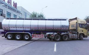 3轴半挂34吨液奶运输专用车