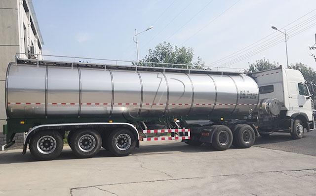 33吨奶罐运输车,半挂奶罐运输车