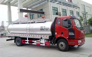 解放国五11立方奶罐运输车