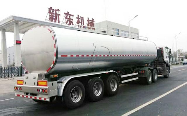 40吨3轴半挂牛奶运输车