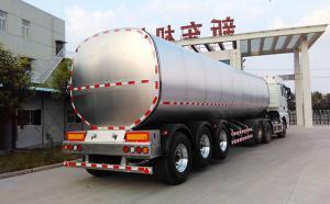 34吨3轴半挂鲜牛奶运输专用车