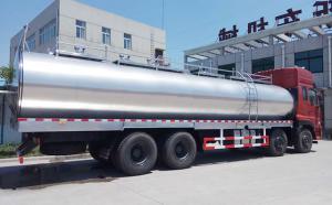 解放国五4轴21立方奶罐运输车