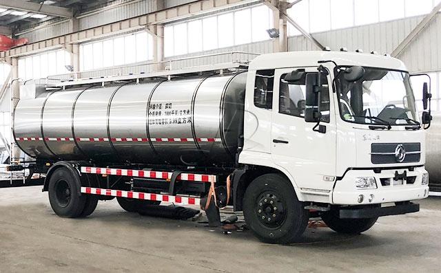 东风国五2轴10立方鲜牛奶运输车