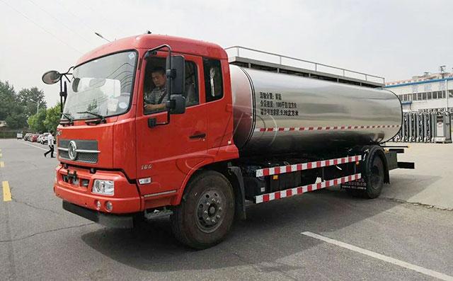 东风2轴11立方鲜奶罐车