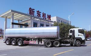 重庆某物流公司38吨鲜奶运输罐车今