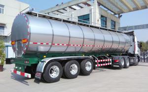 34吨3轴半挂不锈钢拉奶罐车