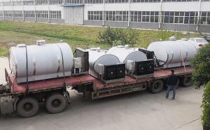 新东机械云南客户6吨牛奶制冷罐四台齐发