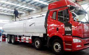 解放国五20吨鲜奶运输车昨日顺利发