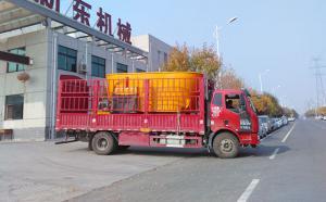 新东机械12m³移动式TMR饲料搅拌机发往开封