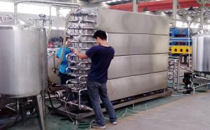甘肃客户到我公司考察购买牛奶速冷系统