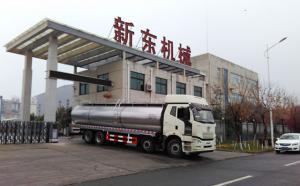 解放车罐一体20吨鲜奶运输车发往河
