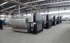 新东机械5吨牛奶制冷罐出口发货现场