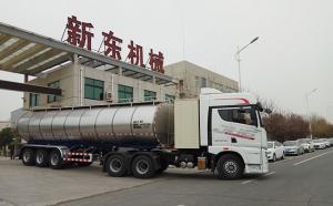 34立方半挂鲜奶运输罐车27日顺利发