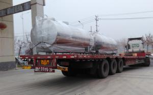 新东机械2台3吨牛奶制冷罐顺利发货