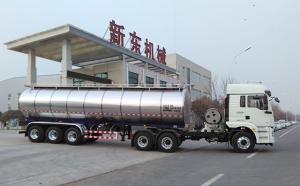 陕西33立方半挂鲜奶运输车周末发货