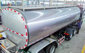黑龙江34吨半挂奶罐车发车准备就绪