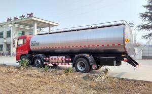 内蒙古16立方原奶运输罐车整装待发