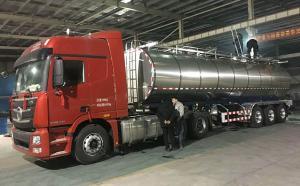 34吨鲜奶运输专用罐车连夜发货