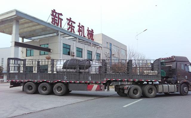 新东机械6吨鲜奶冷藏制冷罐顺利发货