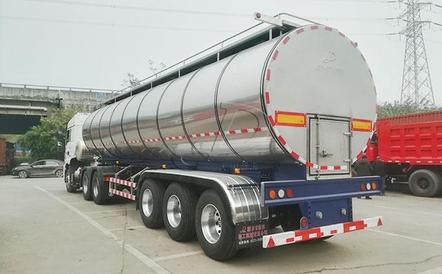 鲜牛奶运输专用不锈钢半挂罐车