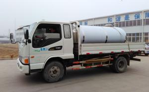 郑州老客户到我公司自提3吨牛奶制冷罐