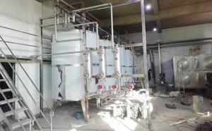 山东某大型乳业客户冰水速冷及室外奶仓安装现场