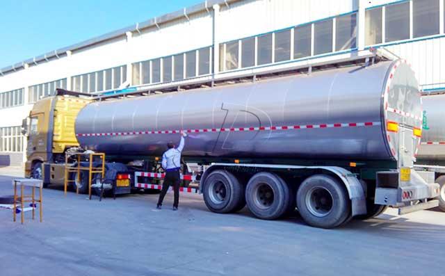 35吨半挂奶罐车 牧场拉牛奶专用车