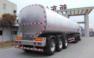 32吨大型半挂鲜牛奶运输不锈钢罐车