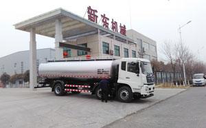 新东机械16立方牛奶保鲜运输车发往