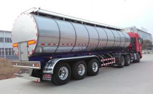 天潤新東34噸半掛拉奶保溫罐車