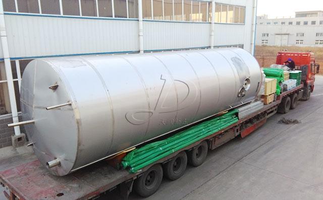 寧夏某萬頭牧場訂購的50噸大型室外奶倉順利發貨