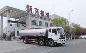 河北16立方鮮奶運輸罐車發貨 客戶