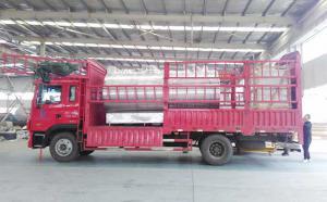 山東知名大型乳企自有牧場訂購的10噸制冷罐發貨