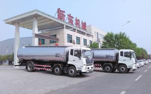 安徽客戶訂購的兩臺5250運輸牛奶車
