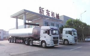 日发四车!40吨半挂奶罐车接力16吨