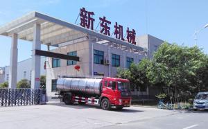 我公司生产的天润新东牌鲜奶运输罐