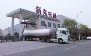 河北客户订购的38吨运输鲜奶罐车顺