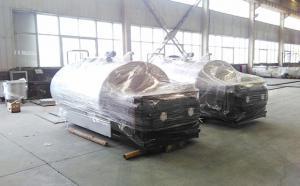 山东客户订购的两台3吨牛奶制冷罐