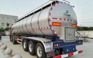 福建客户订购的33吨半挂鲜奶运输罐