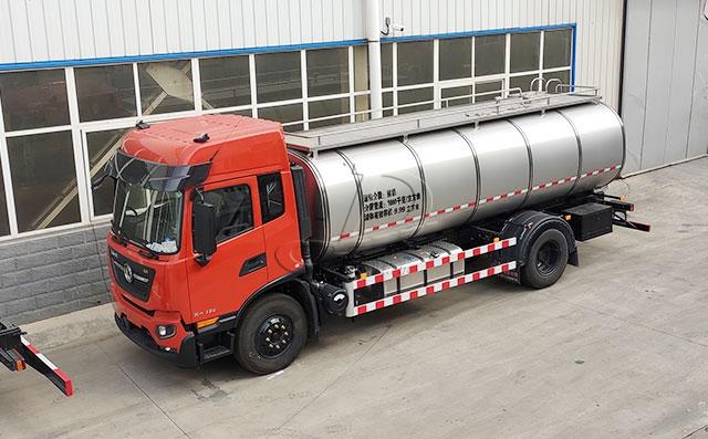 国内第一辆国六标准<a href=/ target=_blank class=infotextkey>奶罐车</a>准备发货上岗了!