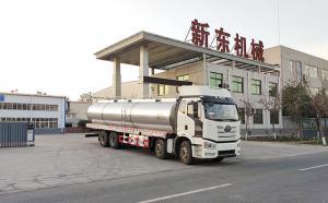 山东廖经理订购的车罐一体三轴奶罐车今日发货