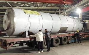 内蒙古30吨大型保温室外奶仓连夜发货