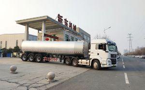 物流公司订购的38吨半挂拉牛奶罐车