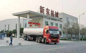 我公司28吨半挂拉液态奶罐车发往河北行唐