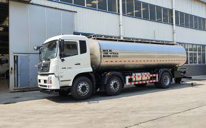 河南客户订购的16立方车罐一体奶罐车今日发货
