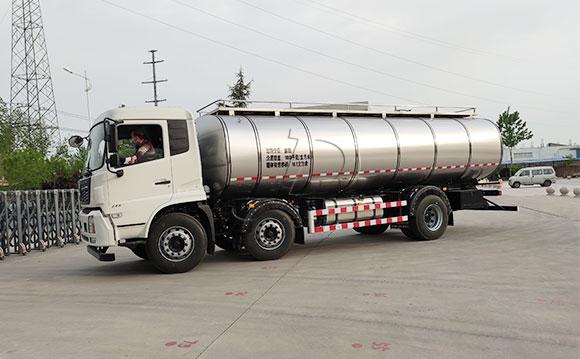 拉液体奶的不锈钢罐车