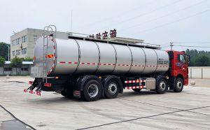 車罐一體國六19噸不銹鋼牛奶罐車