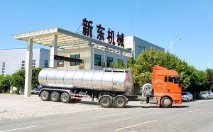 新疆34噸拉奶半掛車今天下午客戶順